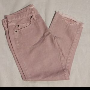 NWT Mossimo Pink Boyfriend Cropped jeans